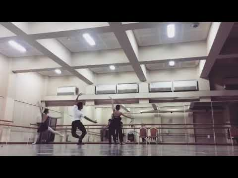 Rehearsal Small part of pas de trois at Cairo opera ballet company