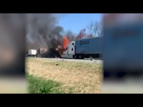 Two people killed in fiery crash in Yadkin County