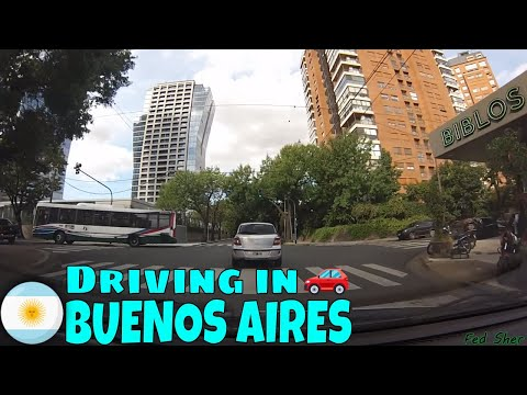 Driving in Buenos Aires (from Belgrano to Retiro)