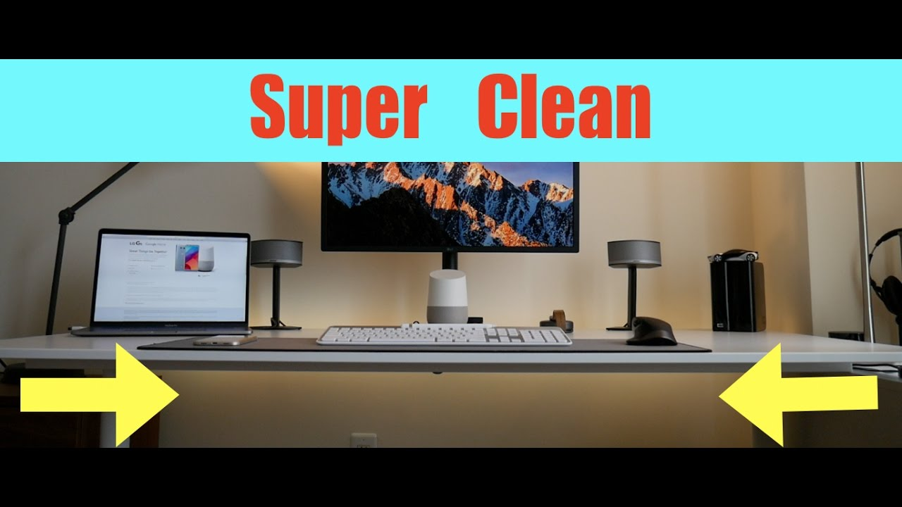 HOW TO Cable management for Desk PC LAPTOP SPEAKERSand