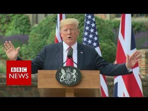 "President Trump: ""I didn't criticise the prime minister"" in Sun interview  - BBC News"