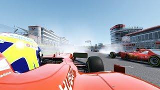 F1 Ferrari F138 ( Felipe Massa ) vs Ferrari SF15-T vs Ferrari SF70H vs Ferrari F2004 at Brands Hatch