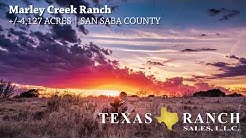 Marley Creek Ranch   4,127 Acre San Saba County Ranch for Sale