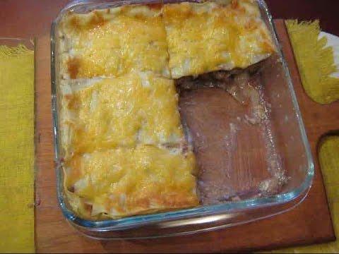 домашняя лазанья рецепт с фото