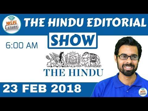 The Hindu Editorial Analysis 23rd feb 2018