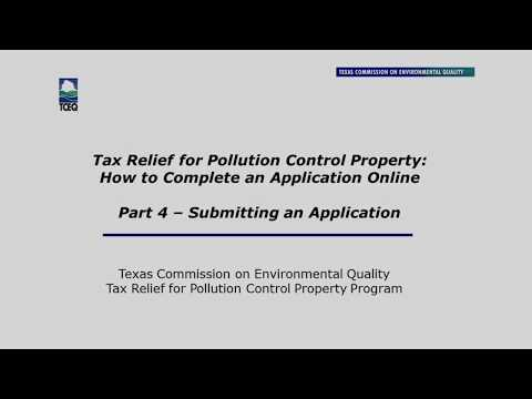 Tax Relief for Pollution Control Property Online Application Part 4