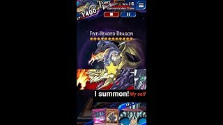Yugioh Duel Links - Tower Boss Level 30 : Five-Headed Dragon summon Five-Headed Dragon