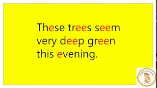 These trees - English phonics, long [i] - английская фонетика, долгий звук [i]