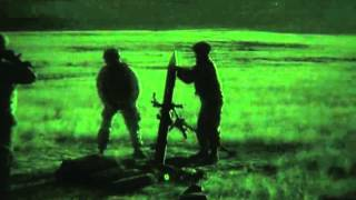 120mm Illumination Rounds Fired By Cavalry Regiment Light Up Night Sky - Infrared Night Vision