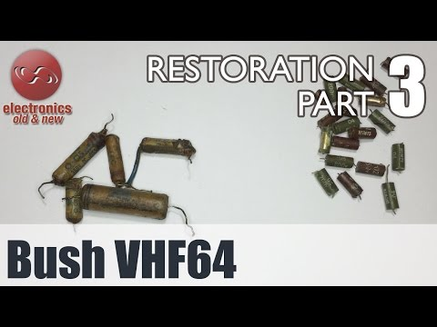 Bush VHF64 tube radio restoration - Part 3. All capacitors replaced. I hate Hunt caps!.