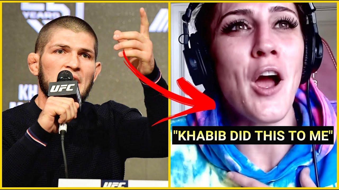 KHABIB DID SHOCKING THING TO THIS FEMALE FIGHTER - 2020