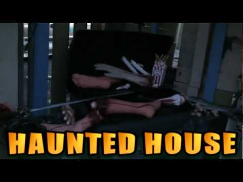 Part 11 how to build a backyard haunted house 2009 for Build a haunted house