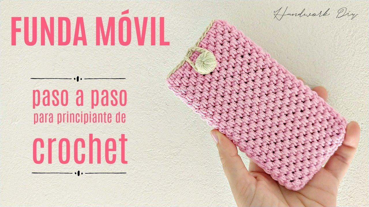 Cómo tejer funda a crochet para móvil, adaptable a otras medidas. - YouTube