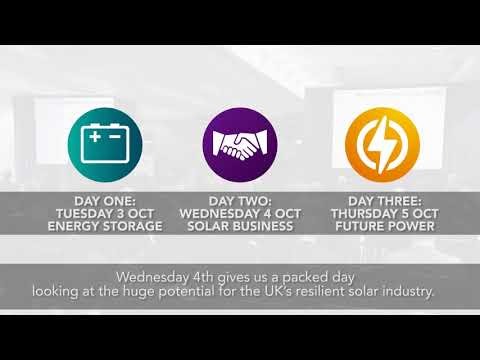 Solar and Storage 2017 CONFERENCE promo