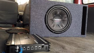 Pioneer TS-W311D4 Subwoofer in an L-Ported Box Bass Test