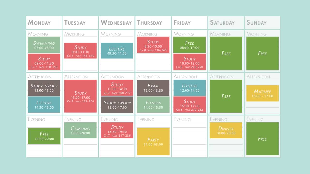 How to mother properly plan your schedule