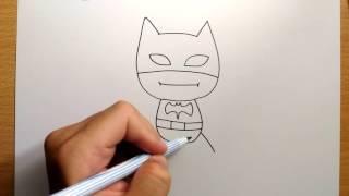 สอนวาดรูป | การ์ตูน แบทแมน ง่ายๆ | วาดการ์ตูน กันเถอะ