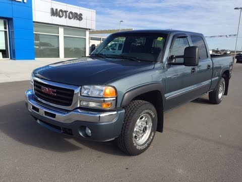 Grey 2006 Gmc Sierra Sle 1500hd Crew Cab 4wd Truck At Scougall Motors