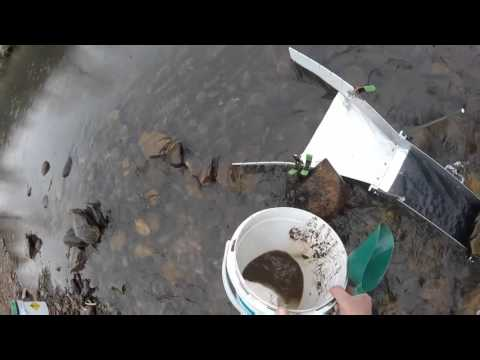 Pennsylvania Gold Prospecting. Sullivan County with the Keene A52 equipped with Gold Hog matting.