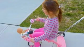 hilarious bike ride with a naked baby