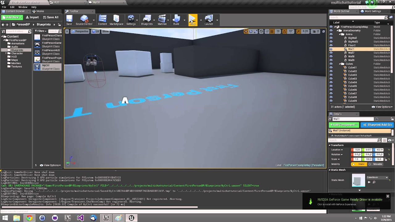 Simple multiplayer umg global chat blueprint tutorial w unreal simple multiplayer umg global chat blueprint tutorial w unreal engine 483 tutorial malvernweather Gallery