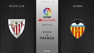 Rueda de prensa Athletic Club vs Valencia