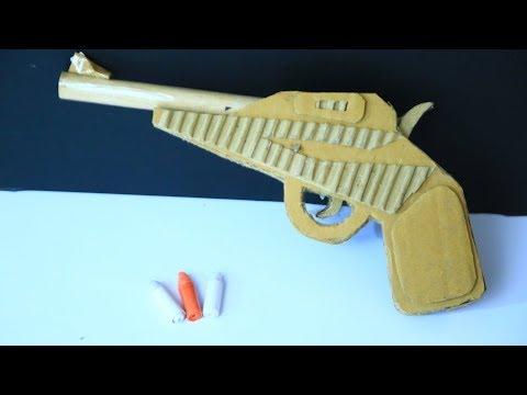 How To Make A Cardboard Gun That Shoots Paper Bullet - Paper gun -Easy paper gun tutorials