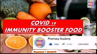 Immunity booster food and lifestyle modifications |pharmacy academy |