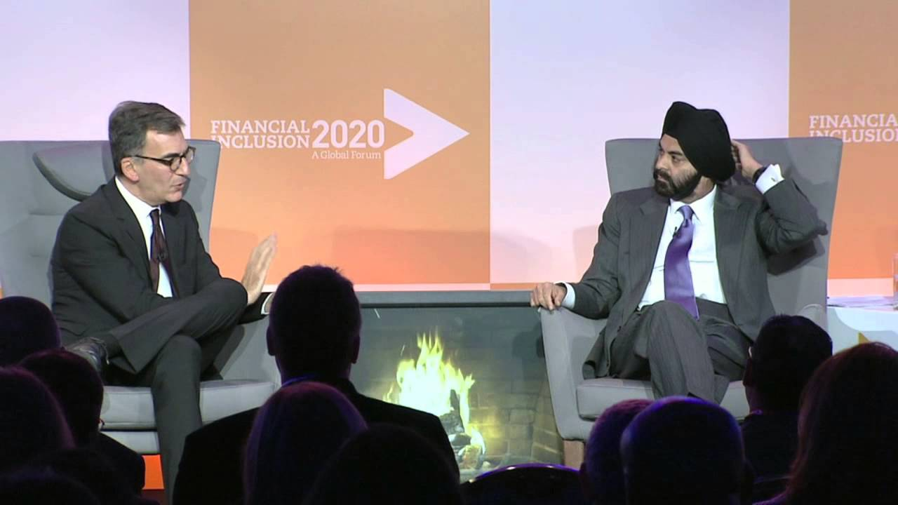 Ajay Banga (CEO, MasterCard) and Michael Schlein (CEO, Accion)