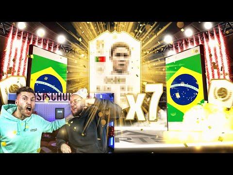 7x Garantierte ICON SETS 😱🔥 Mega Pack Luck im PACK BATTLE !! FIFA 19 Timo Vs Simon