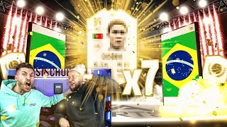 7x Garantierte ICON SETS 😱🔥 Mega Pack Luck im PACK BATTLE !! FIFA 19 Timo Vs Simon