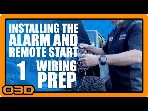 01 - alarm and remote start install - install prep - omega excalibur  al-1775-3db - jeep wrangler - youtube