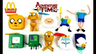 McDONALD'S ADVENTURE TIME HAPPY MEAL TOYS 2017 VS 2014 FULL SET 6 KIDS WORLD COLLECTION US UNBOXING