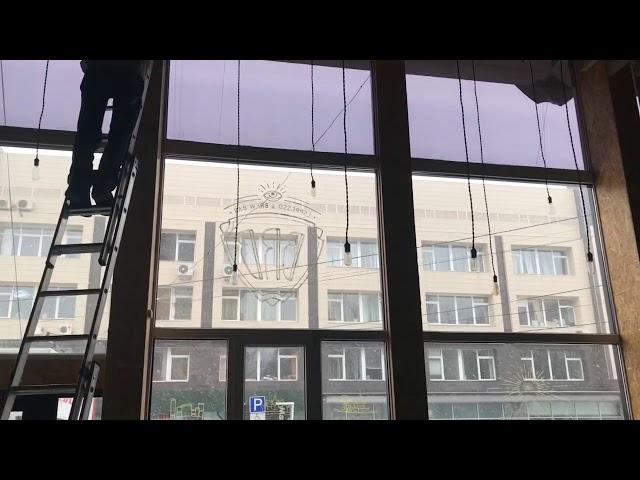Рулонные шторы Зебра. Ручные и электрические.