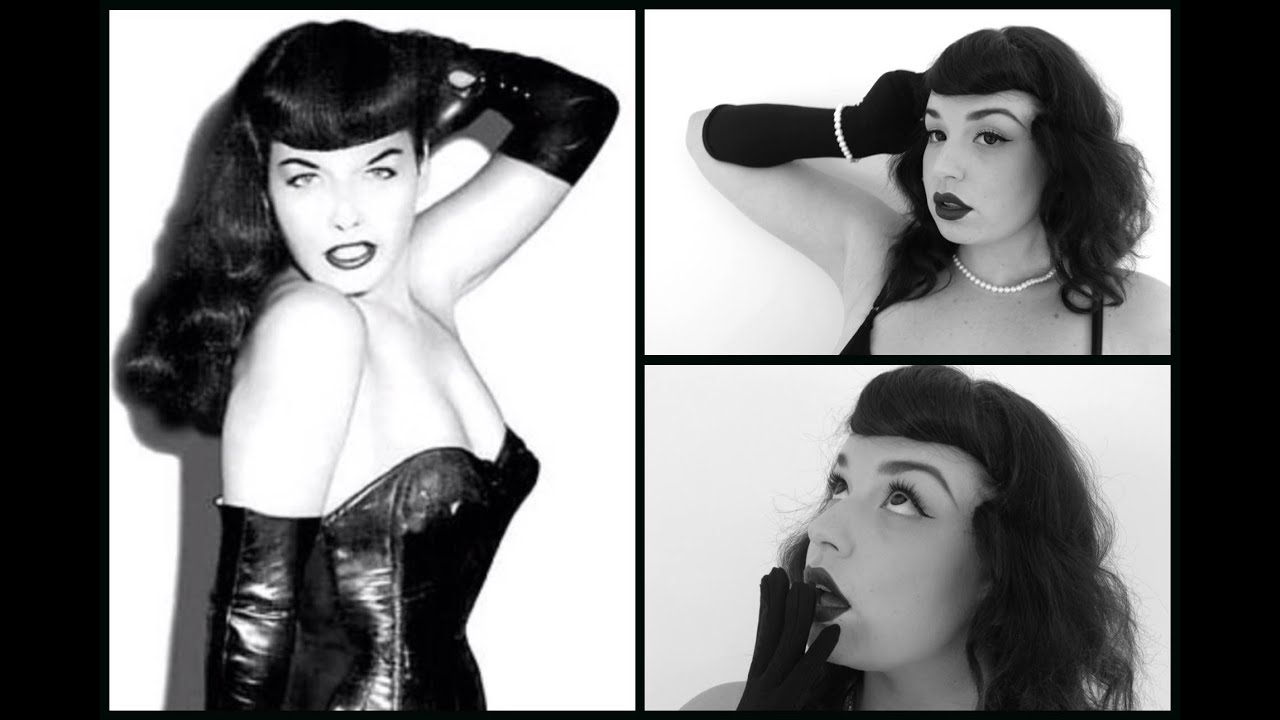 Bettie Page Pinup Hair And Makeup Tutorial How To Create Faux Bangs