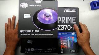 Intel Core I7 8700K With ASUS PRIME Z370 P With MASTERAIR G100M RGB FAN