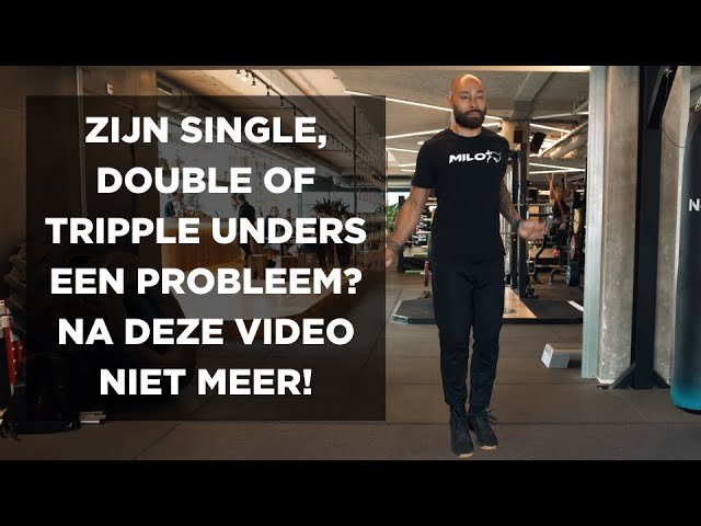 Touwtje springen: Zijn single, double of tripple unders een probleem? Na deze video niet meer!