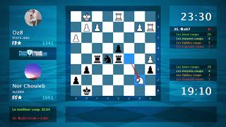 Chess Game Analysis: Oz8 - Nor Chouieb : 0-1 (By ChessFriends.com)