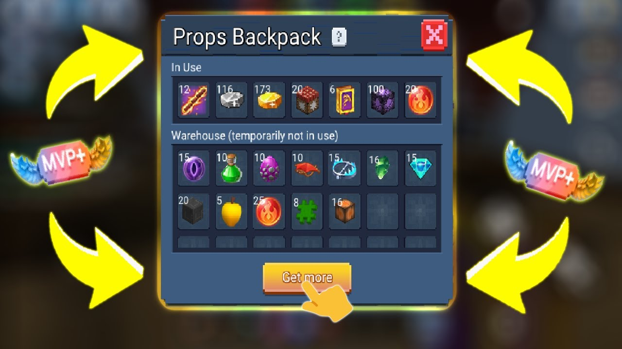New MVP+ Item Backpack Is Added In Bed Wars   Blockman Go Gameplay (Android , iOS)
