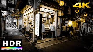 【4K HDR】Night Walk to Shinjuku Omoide Yokocho (思い出横丁散歩) & Otakibashi (小滝橋通散歩)  Japan Walking Tour