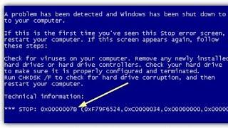 синий экран 0x0000007B. Причина. Решение