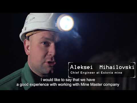 Mine Master underground drilling rigs and bolters for oil shale mines in Estonia
