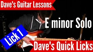 Quick Licks Guitar Lesson - Solo Part 1 with Tabs
