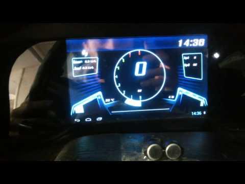 DIY tablet Car Instrument claster