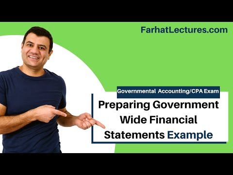 Preparing government wide financial statements comprehensive example CPA exam FAR