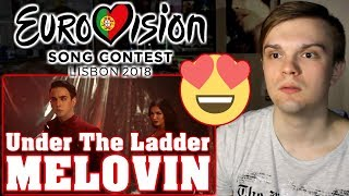 [RUSSIAN REACTION] MELOVIN — Under The Ladder | Ukraine (Eurovision 2018)