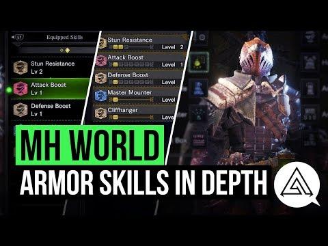 Monster Hunter World   Armor Skills Explained & All Skills so Far (Armor Skill List)
