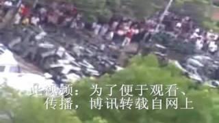 湖北省石首市,几万民众将前来镇压的上千武警击退1