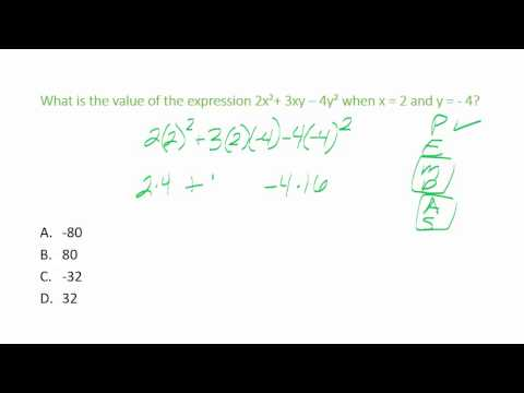 ACCUPLACER Elementary Algebra Practice Questions