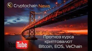 Прогноз курса криптовалют Bitcoin, EOS, VeChain. Когда будет рост биткоина